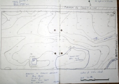 Dec 1996 site plan for dam, showing contour mapping
